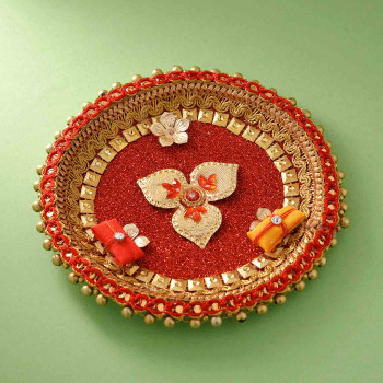 Rakhi with Mathura Peda and Thali - For India