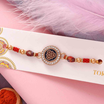 Fancy Rakhi with Nutberry - For India