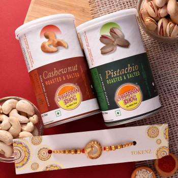 Ganesha Rakhi with Dryfruits