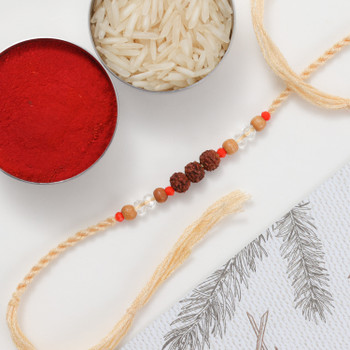 Astro guru believes rudraksh holds many astrological powers and wearing Rudraksh Rakhi gives energy and power to soul. People like to wear rudraksh bracelets round the year with faith.