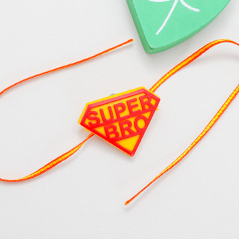 If you have a brother who acts like a super man when you need him then definitely this Super Bro Rakhi is for him.