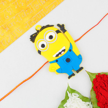Minions are among kids favourite cartoon characters and gifting a Minion Rakhi will surely fascinate your little angle.
