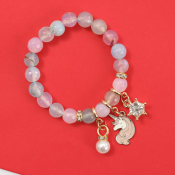 Modern Rakhi fashion bracelet, its beauty and simplicity makes it wearable on all special occasions.