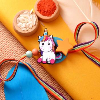 The Little Unicorn Kids Cartoon Rakhi -For India