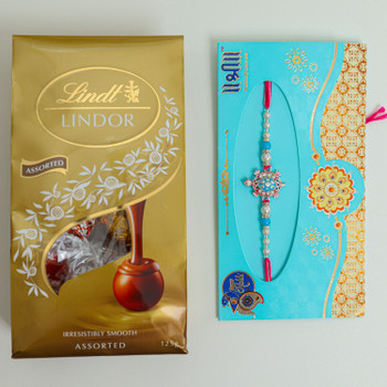 Lucky Turtle Rakhi with Lindt Chocolate