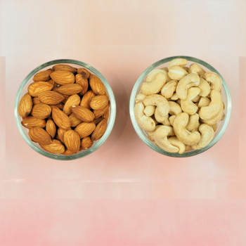 Set of 2 Rakhis with Lindt, Almonds & Cashews
