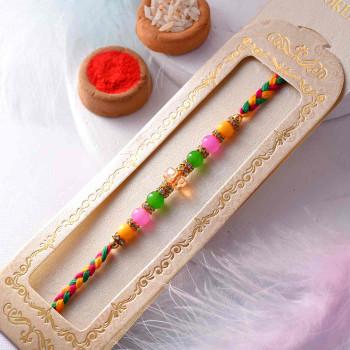 Colorful Pearl Rakhi - For India