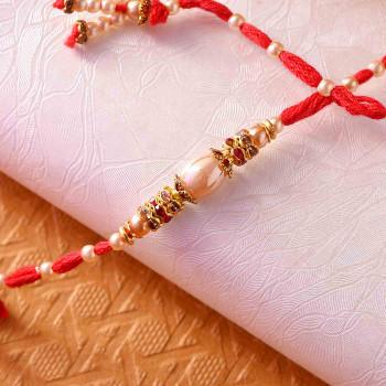Shining Pearl Rakhi - For India