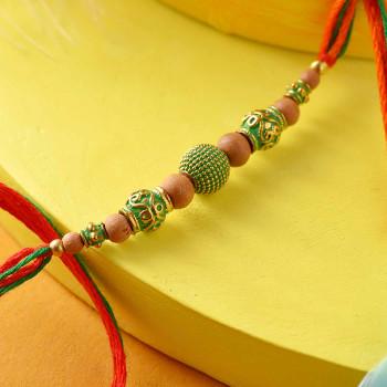Alluring Beads Rakhi