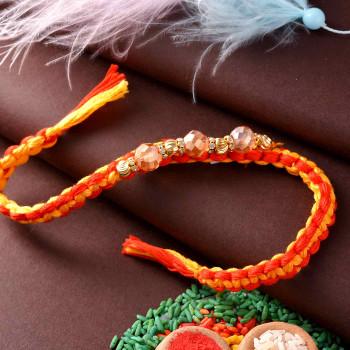 Traditional Dazzling Beads Rakhi - For India