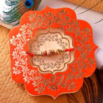 Antique Finish Sandalwood Rakhi Thread