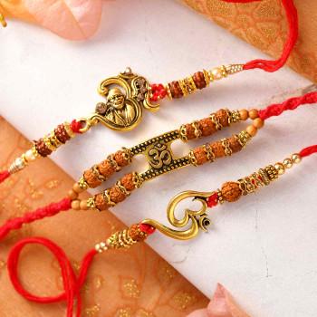 Set of 3 Om Sai Rakhis