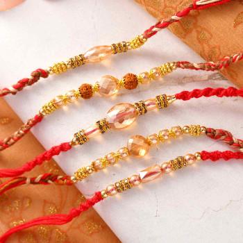 Set of 5 Beautiful Rakhis