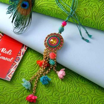 Fancy Stones & Colorful Beads Bhaiya Bhabhi Rakhi