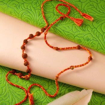 Spiritual Rudraksh Set of 2 Rakhis