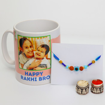 Beautiful Bro Rakhi with Personalized Mug