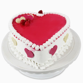 Heart Shape Fresh Strawberry Cake