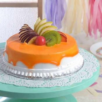 Eggless Fresh Fruit Cake for My Love