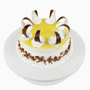Tempting Round Shape Butterscotch Cake