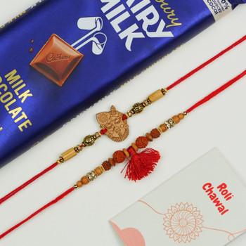 Krishna & Rudraksh Rakhi With Dairy Milk Chocolate -For UAE