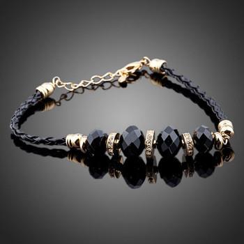 Unique Design 18K Gold Plated SWA Element Austrian Crystal Charm Bracelets