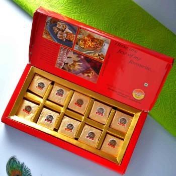3 Rakhi Set With Mewa Bites & Pooja Thali - For India