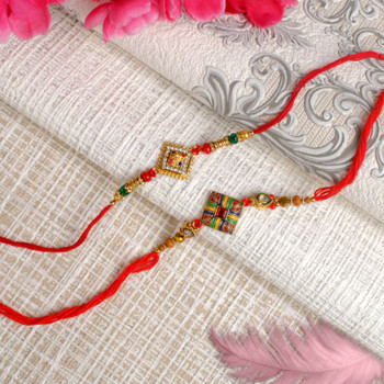Two Stylist Square Rakhi - For Canada