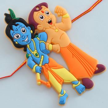 Krishna with Chota Bheem Kid's Rakhi - For Canada