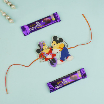 Kids Mikey Rakhi with chocolates - For Canada