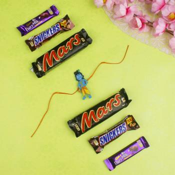 Kids Krishan Rakhi with Six Chocolates - For Canada