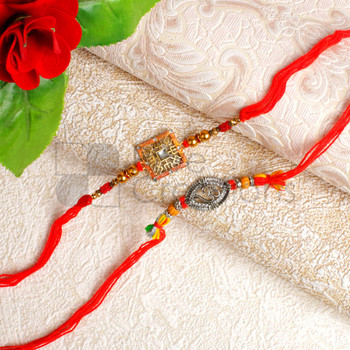 Two Rakhi Set of Aum - For Canada