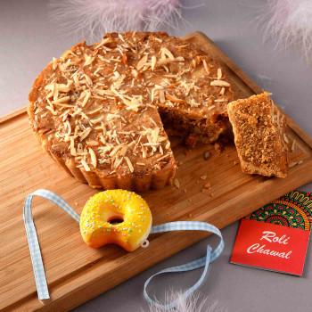 Crazy Kids Donut Rakhi With Almond Pie - For India