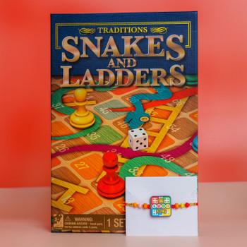 Kid's Rakhi With Snakes & Ladders Game -For Australia