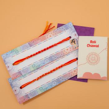 Pavitra Bandhan 2 Rakhi Thread -For Australia