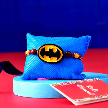 Superhero Kids Rakhi With Chocolate Candy - For India