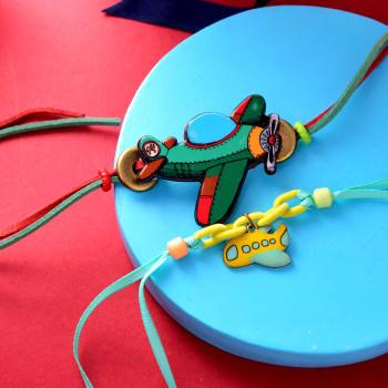Cartoon Kids Rakhi Set Of Two With Handmade Assorted chocolate Box - For India