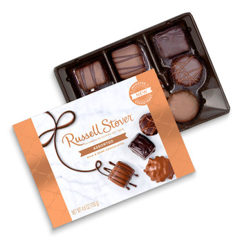 RUSSELL STOVER ASSORTED CHOCLATE BOX 130 gm