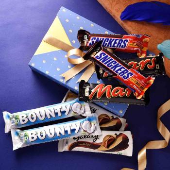 Bhaiya Bhabhi Set of 2 Rakhis With Assorted Chocolates  - For India