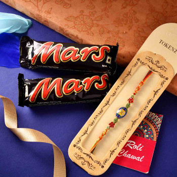 Fancy Meenakari Rakhi With Mars- For India
