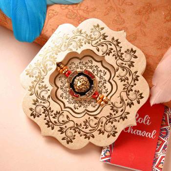 Bajrangbali Style Traditional Rakhi With Cadbury Bournville - For India