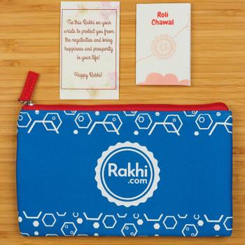 2 Rakhi with Kaju Katli, Nuts & Chocolates Hamper - For Australia