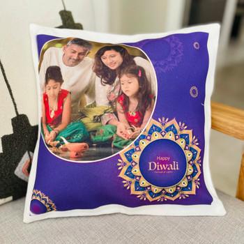 Memorable Diwali Personalised Cushion