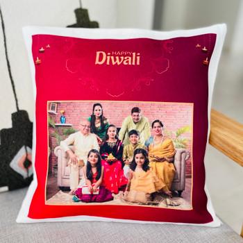 Family celebration Diwali Personalised Cushion