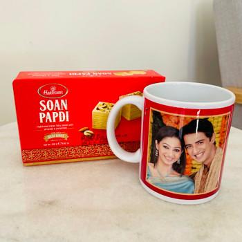 Diwali Personalised Mug & Soan Papdi