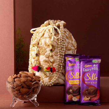 Potli Bag Chcolate Almond Hamper
