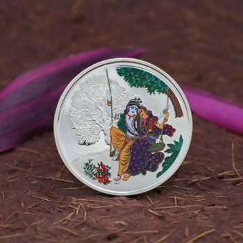 999 Silver Radha Krishna Coin