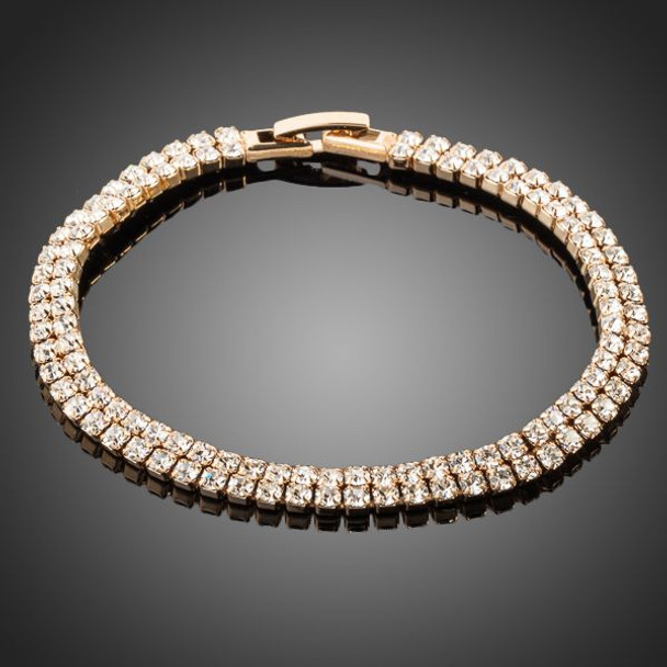 18K Real Gold Plated Full Stellux Austrian Crystal Bracelet