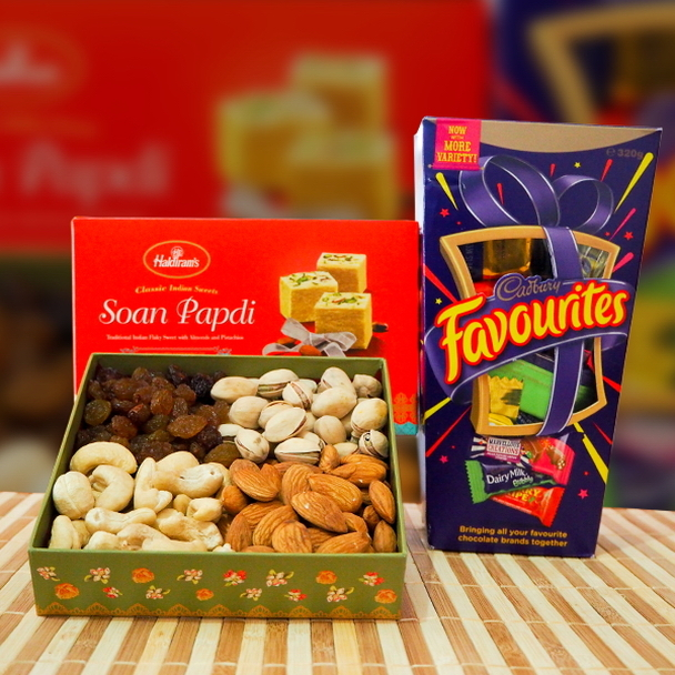 Soan Papdi, Mix Dry Fruits & Cadbury Favourites - FOR AUSTRALIA