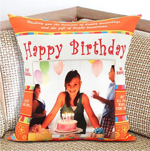 Happy Birthday Personalized Cushion