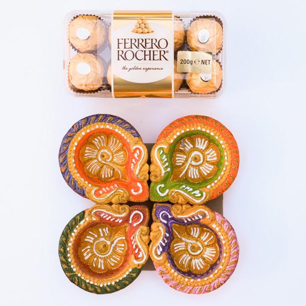 Traditional Diye With Ferrero Rocher - FOR AUSTRALIA